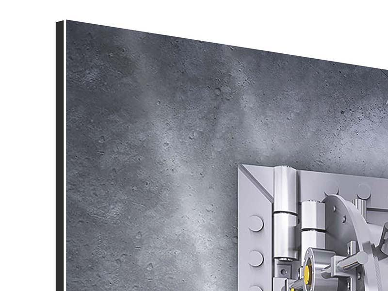 Aluminiumbild 9-teilig Gefüllter Tresor