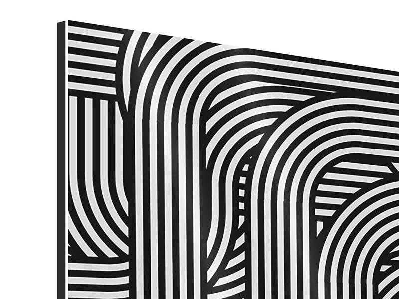 Aluminiumbild 9-teilig 3D Black & White