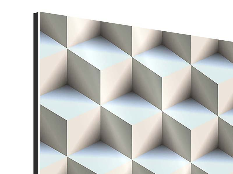 Aluminiumbild 9-teilig 3D-Polytop