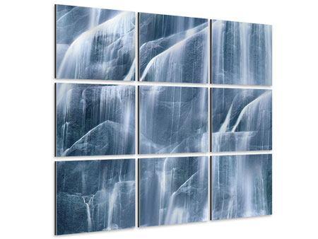 Aluminiumbild 9-teilig Waterfall