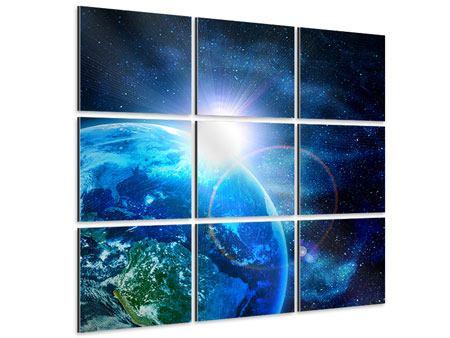 Aluminiumbild 9-teilig Galaxien
