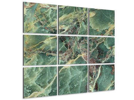 Aluminiumbild 9-teilig Marmor