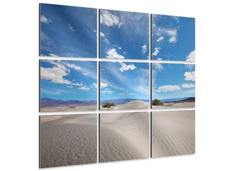 Aluminiumbild 9-teilig Wüstenlandschaft