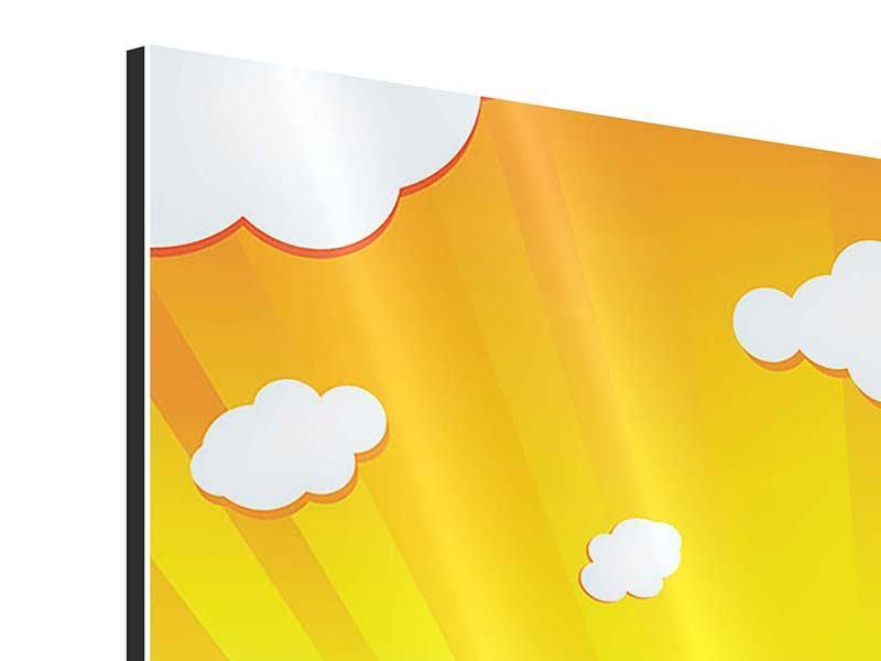 Aluminiumbild 9-teilig Die Sonne geht auf