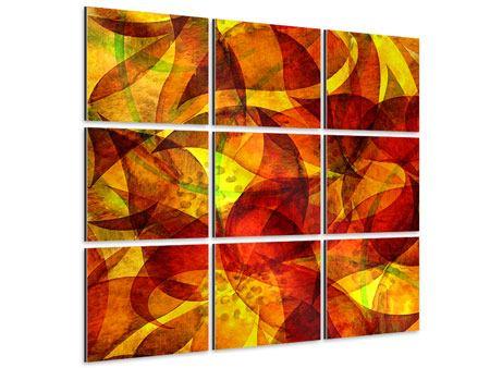 Aluminiumbild 9-teilig Abstraktes Gemälde