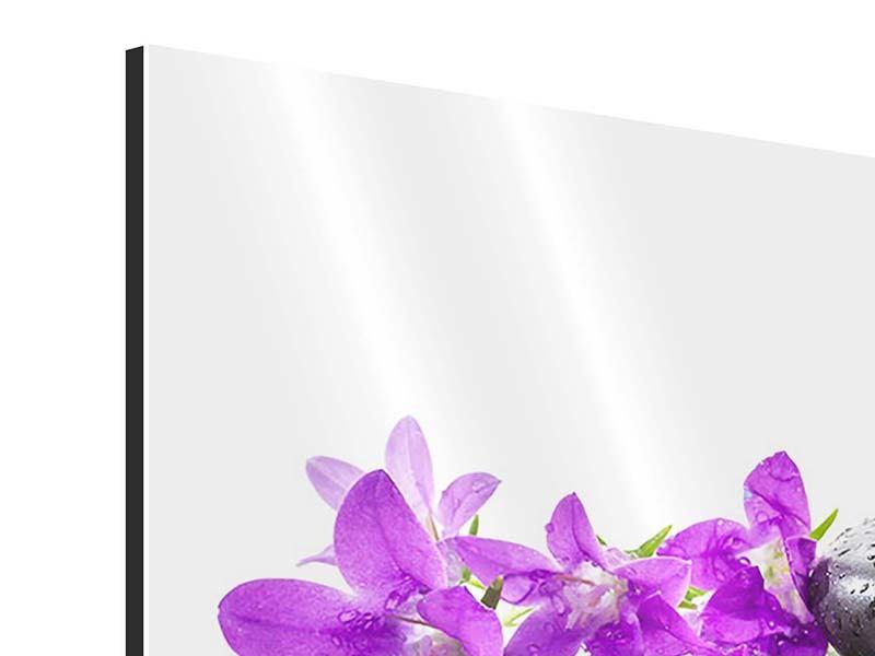 Aluminiumbild 9-teilig Feng Shui Steine