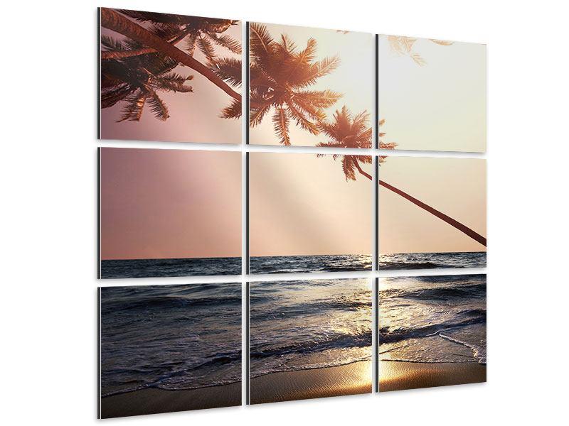 Aluminiumbild 9-teilig Am Meer