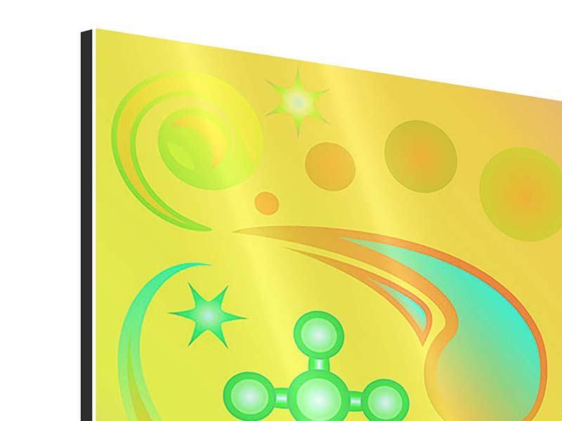Aluminiumbild 9-teilig Flower Power