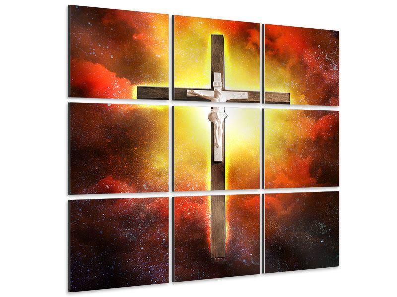 Aluminiumbild 9-teilig Heiliges Kreuz