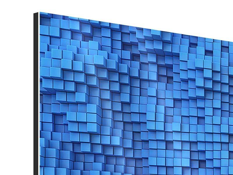 Aluminiumbild 9-teilig 3D-Mosaik