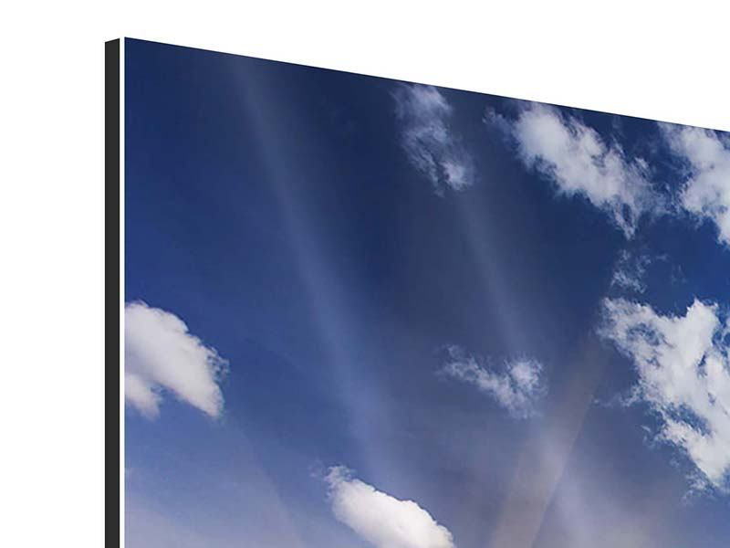 Aluminiumbild 9-teilig Sonnenaufgang im Gebirge