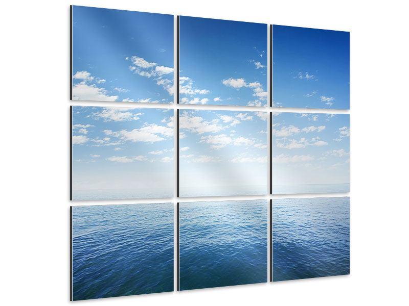 Aluminiumbild 9-teilig Unendlichkeit Meer