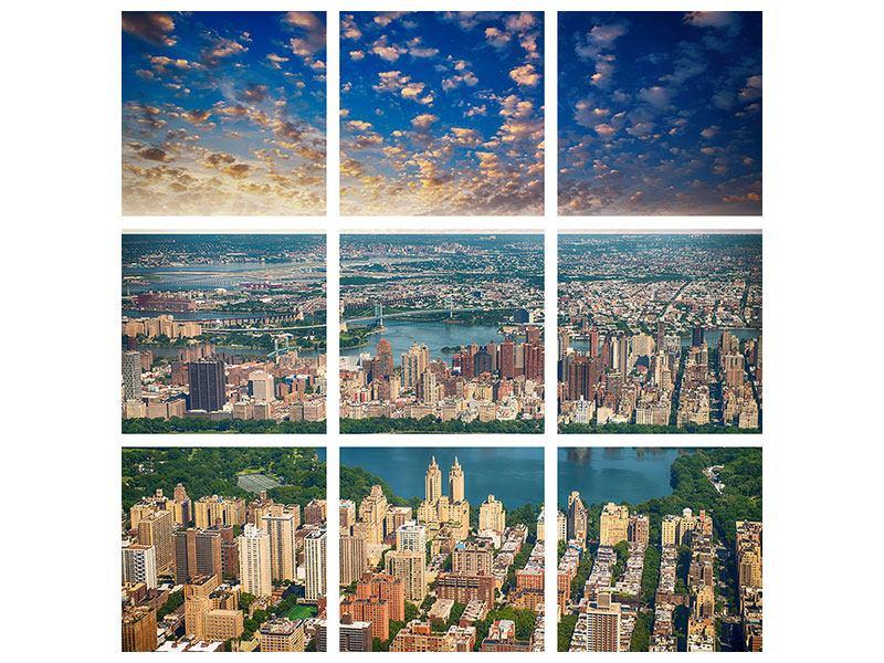 Aluminiumbild 9-teilig New York