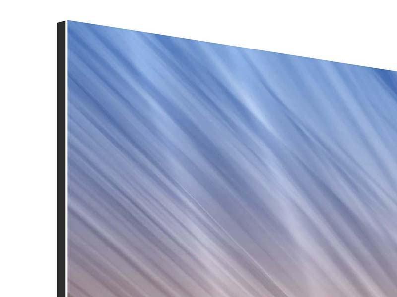 Aluminiumbild 9-teilig Abstraktes Lichterspiel