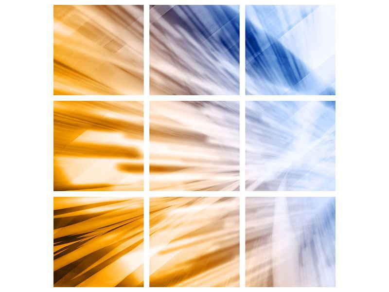 Aluminiumbild 9-teilig Abstrakte Galaxie