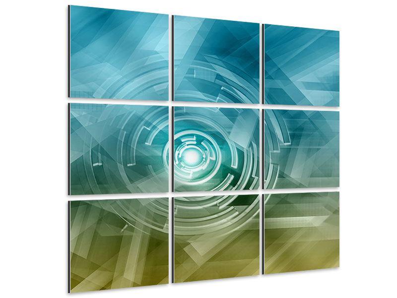 Aluminiumbild 9-teilig Future