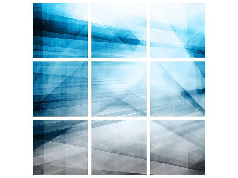 Aluminiumbild 9-teilig Abstrakte Lichtshow
