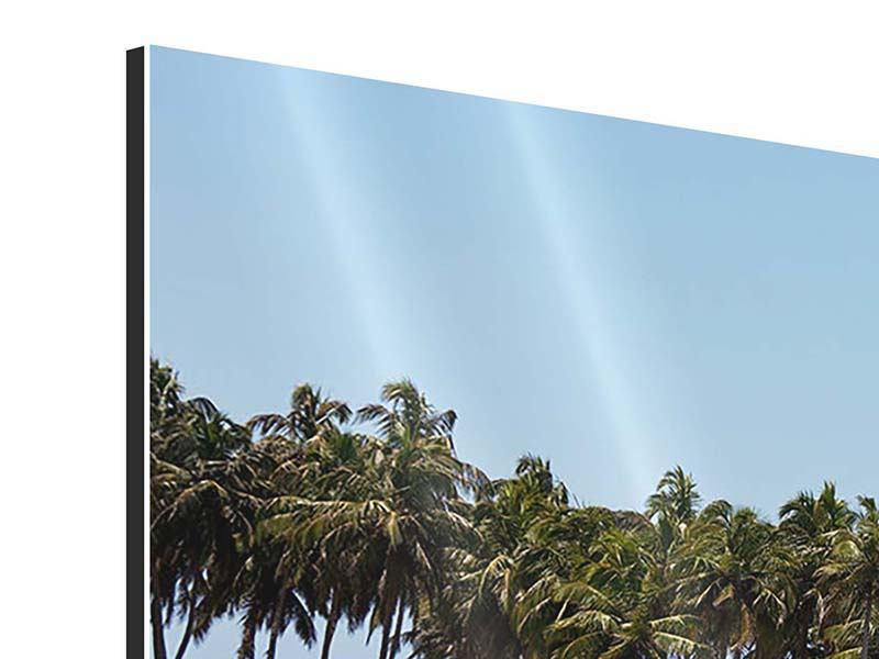 Aluminiumbild 9-teilig Das Meer und die Insel