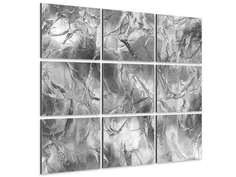 Aluminiumbild 9-teilig Eiswand