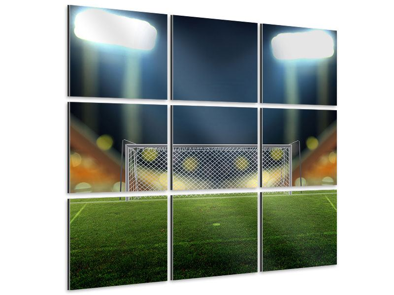 Aluminiumbild 9-teilig Fussballtor