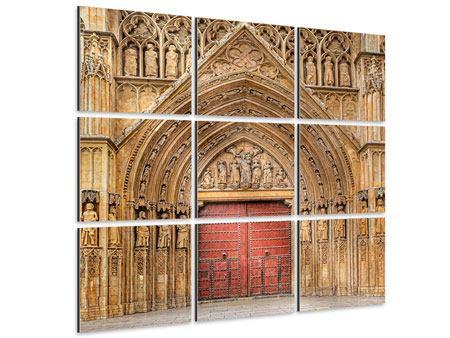 Aluminiumbild 9-teilig Kathedrale von Valencia