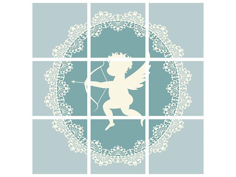 Aluminiumbild 9-teilig Engel Amore
