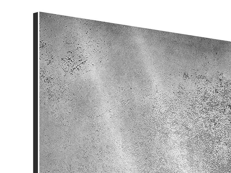 Aluminiumbild 9-teilig Graue Wandschattierungen