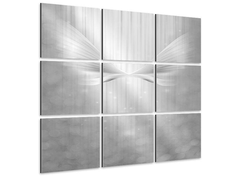 Aluminiumbild 9-teilig Engelsflügel