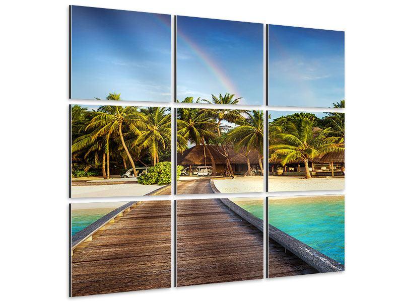 Aluminiumbild 9-teilig Inselparadies