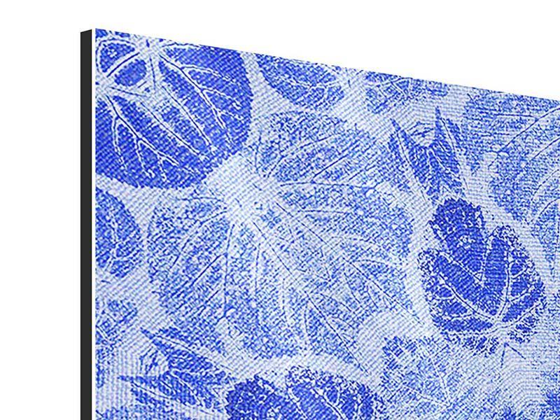 Aluminiumbild 9-teilig Blaues Ornament