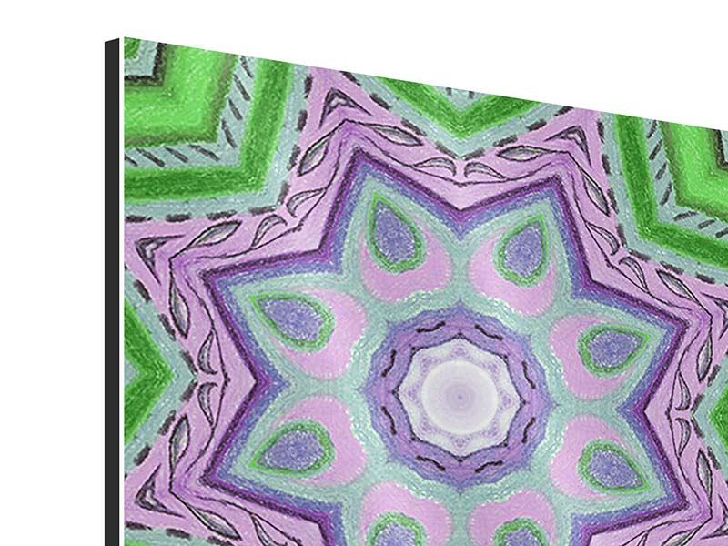 Aluminiumbild 9-teilig Paisley-Style