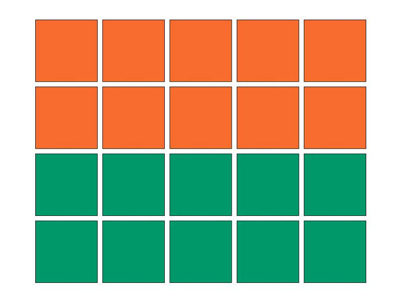 Tile Decor Orange (A705) and Green (A756) Set of 20
