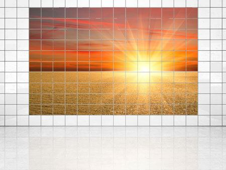 Tile Print The Sunset