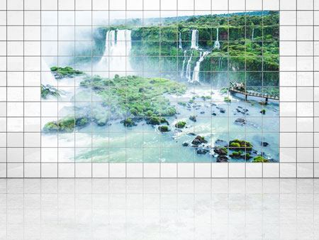 Tile Print Waterfalls
