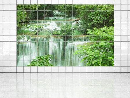 Immagine su piastrelle cascata