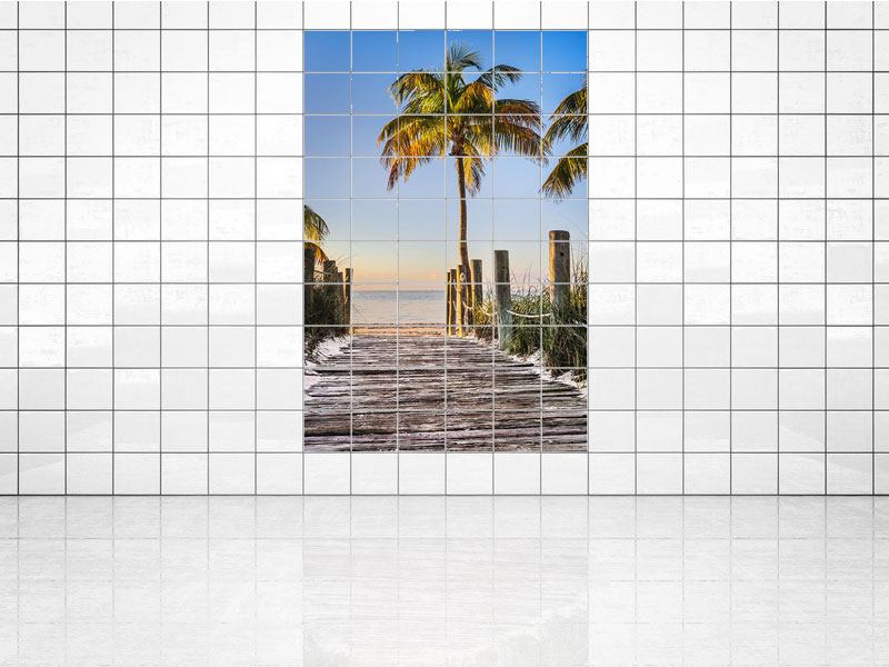 Tile Print Sunset