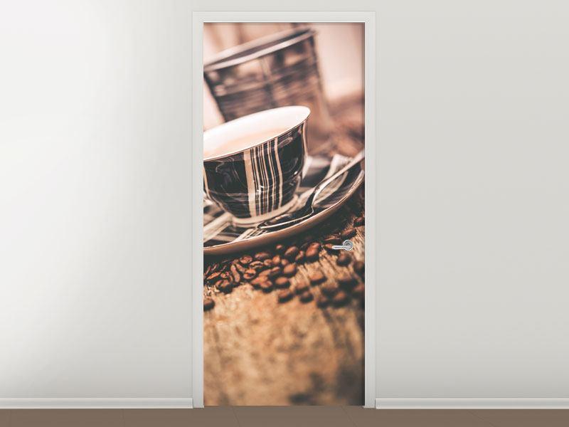 Türtapete Die Tasse Kaffee