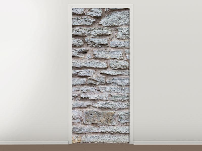 Türtapete Steinmauer