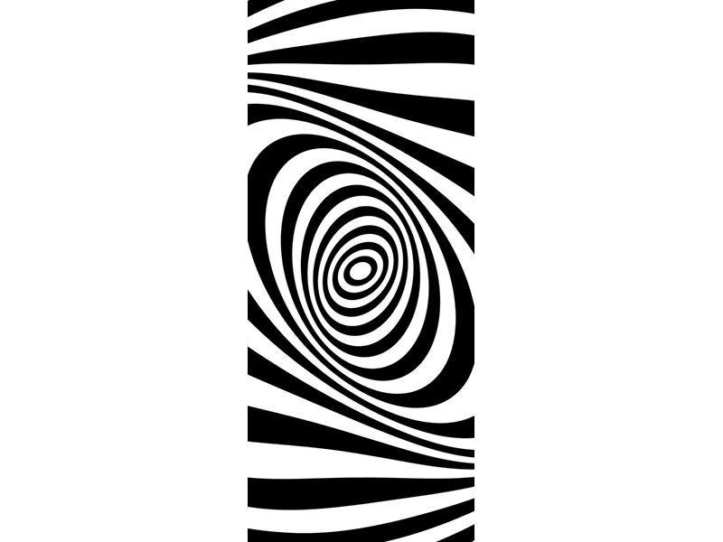 Türtapete Abstrakte Wandbewegung