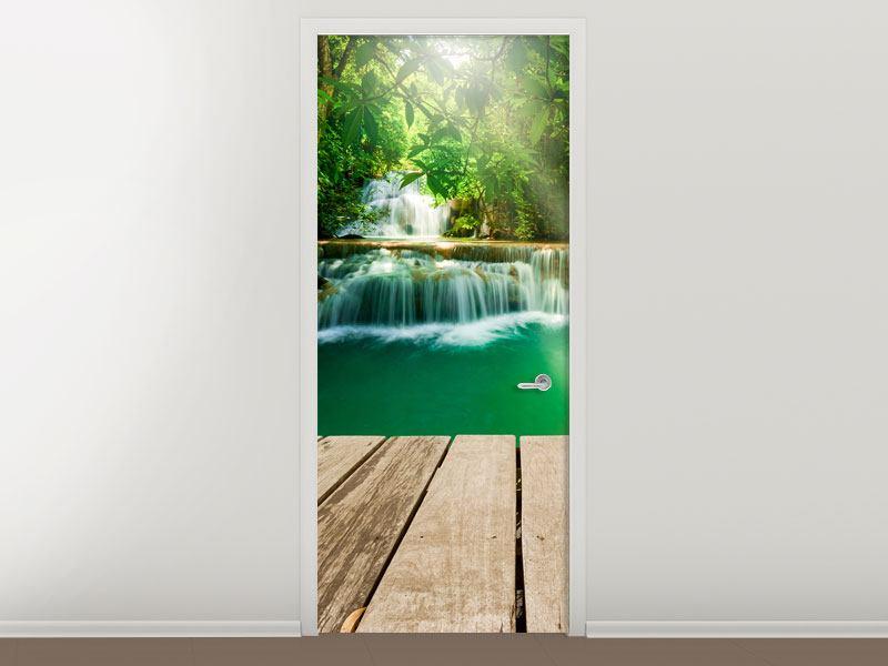 Türtapete Wasserfall Thailand