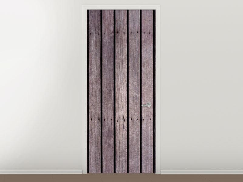 Türtapete Holzwand