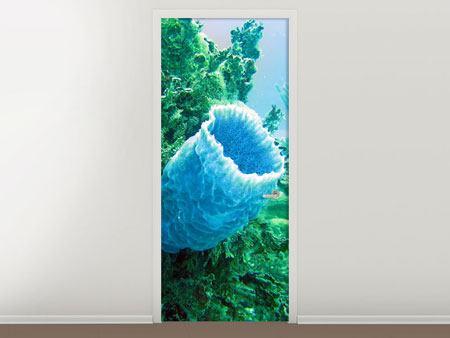 Türtapete Korallen