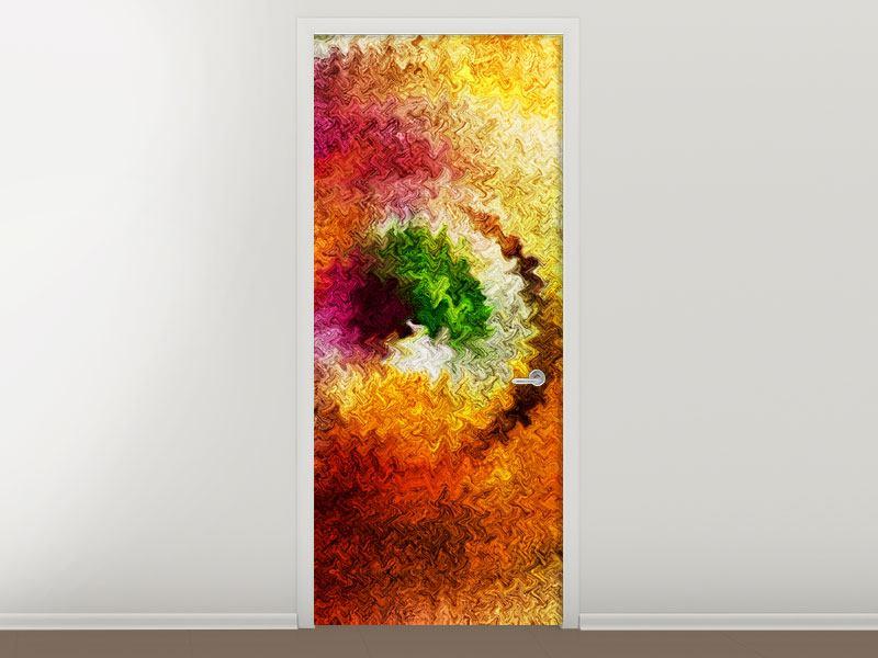 Türtapete Aquarell-Gemälde