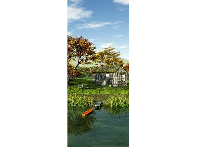 Türtapete Haus am See