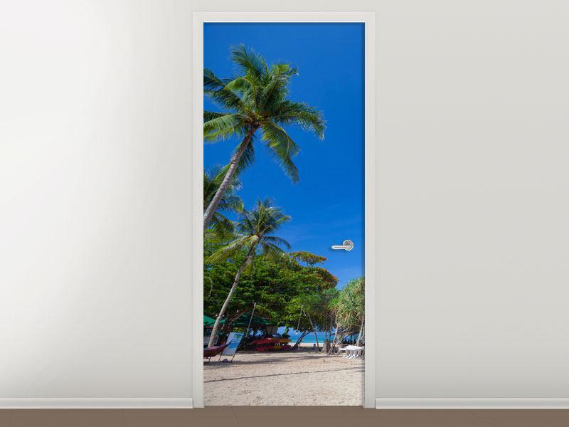 Türtapete Sommer Sonne Strand