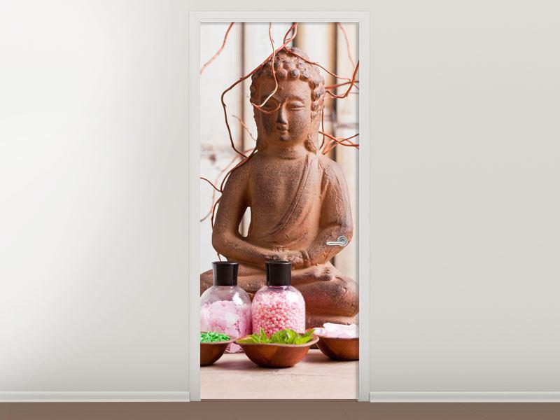Türtapete Buddha + Wellness