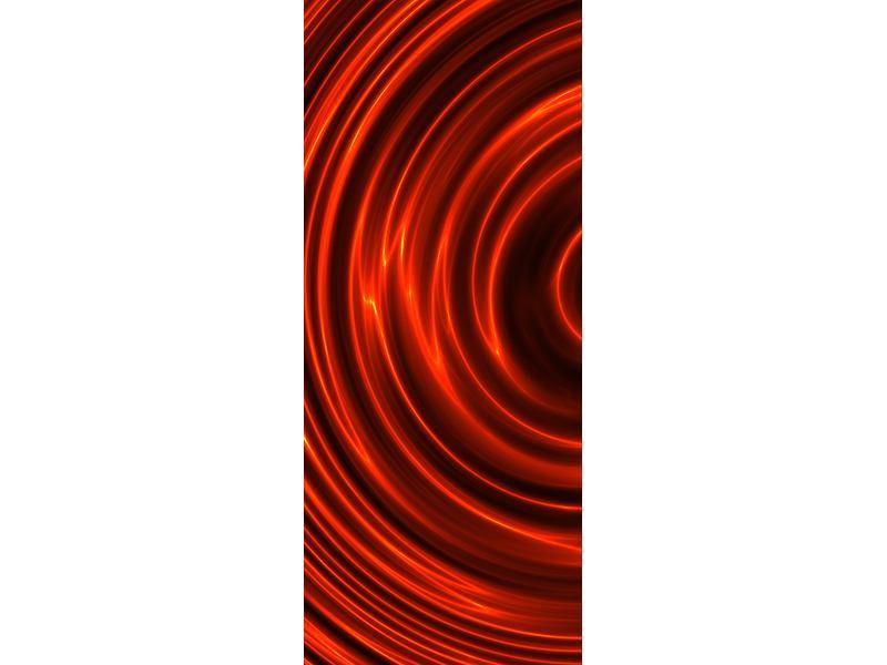 Türtapete Abstrakte Rote Wirbel