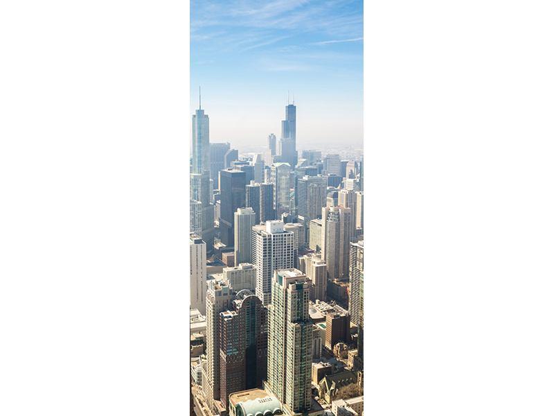 Türtapete Wolkenkratzer Chicago