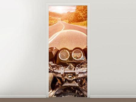 Türtapete Motorrad-Tour