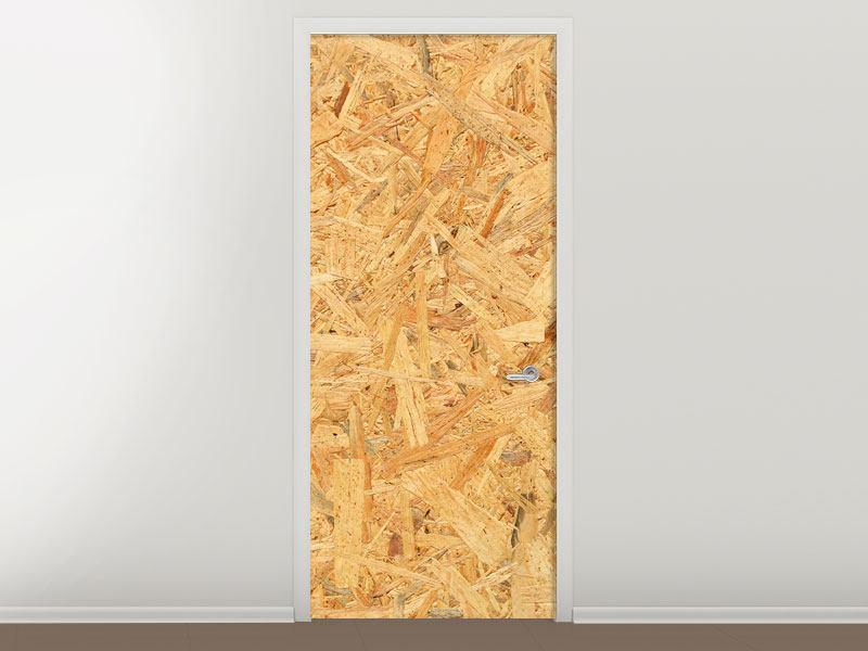 Türtapete Gepresstes Holz